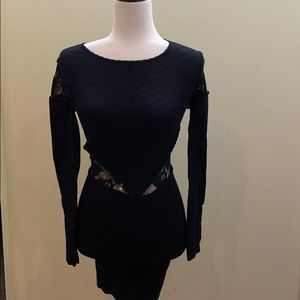Torn by Ronny kobo knit lace form fitting dress